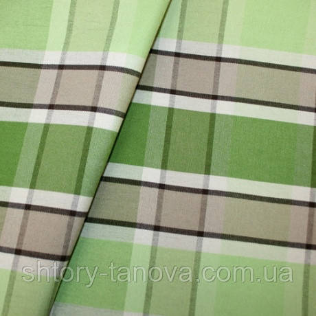 Водоотталкивающая прочная ткань для гамака, штор, подушек Дралон клетка фисташково-бежевый тефлон