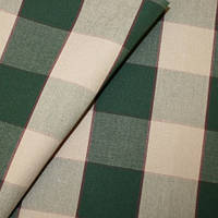 Водоотталкивающая ткань для уличной мебели тентов зонтов Дралон клетка бежево-зеленый тефлон, гамак-ткань