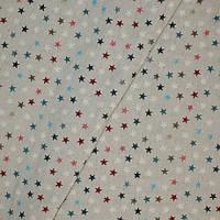 Декор звёзды, синие, голубые, красные