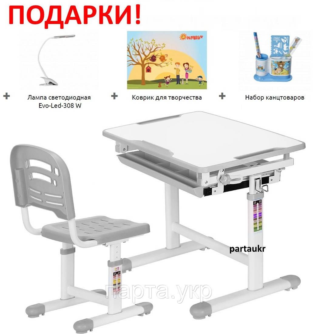 Комплект для детей парта и стульчик, Evo-06 + лампа