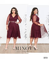 Платье на запАх №286-1-бордо, фото 1