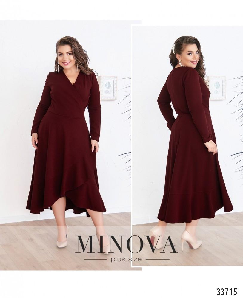 Платье на запАх №3121Б-бордо