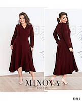 Платье на запАх №3121Б-бордо, фото 1