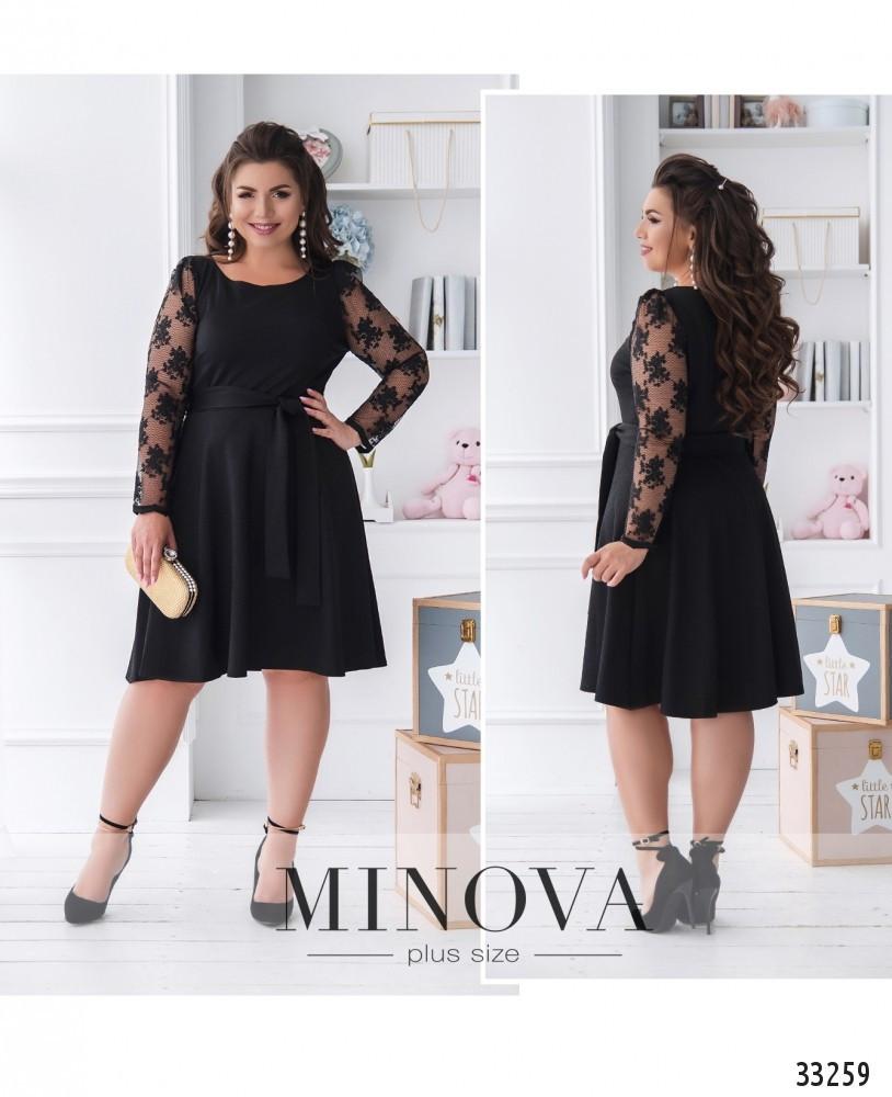 Платье А-силуэта №41151-черный