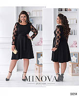 Платье А-силуэта №41151-черный, фото 1