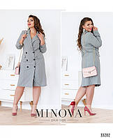 Платье-пальто большого размера №3003-серый