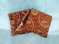 Чехол на табурет коричневый