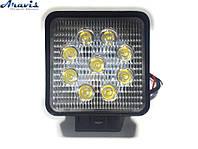 Дополнительные светодиодные фары LED ближний свет 9-32V 6000K 9x3W