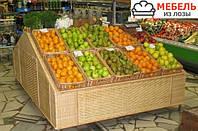 Плетеные корзины (лотки) для стеллажей под хлеб, овощи и фрукты