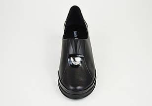 Туфли кожаные на каблуке 756891, фото 3