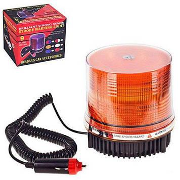 Мигалка-Страбоскоп диодная 12В оранжевая 801F