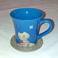 Новая чашка Smile 300 мл + подставка из бисера в подарок, фото 1