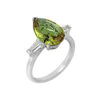 Серебряное кольцо Гаррияс с султанитом и белыми фианитами 18 000114149