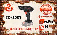 Аккумуляторная дрель-шуруповерт Dnipro-M CD-200T
