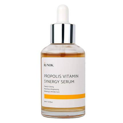 Сыворотка с прополисом IUNIK Propolis Vitamin Synergy Serum, 50 мл., фото 2