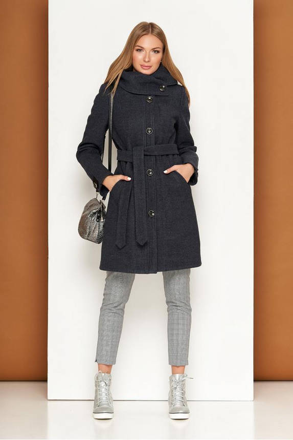 Женское пальто демисезонное из шерсти с капюшоном, фото 2
