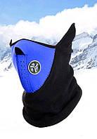 Бафф маска фліс лижна Синя 1, Унісекс, фото 1