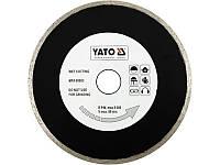 Алмазный диск для плиткорезов 200мм Yato YT-6017