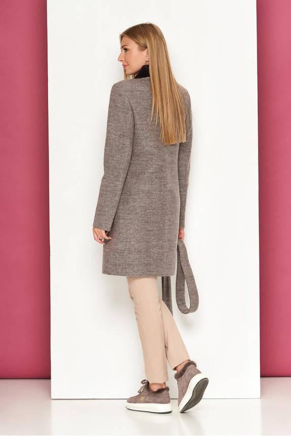 Женское осеннее пальто шерстяное светло-серое, фото 2