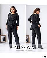 Костюм костюм-двойка женский №696-черный, фото 1