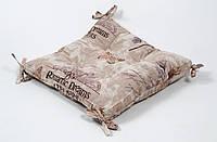 Подушка на стул Lotus Ella 45*45 с завязками кофе