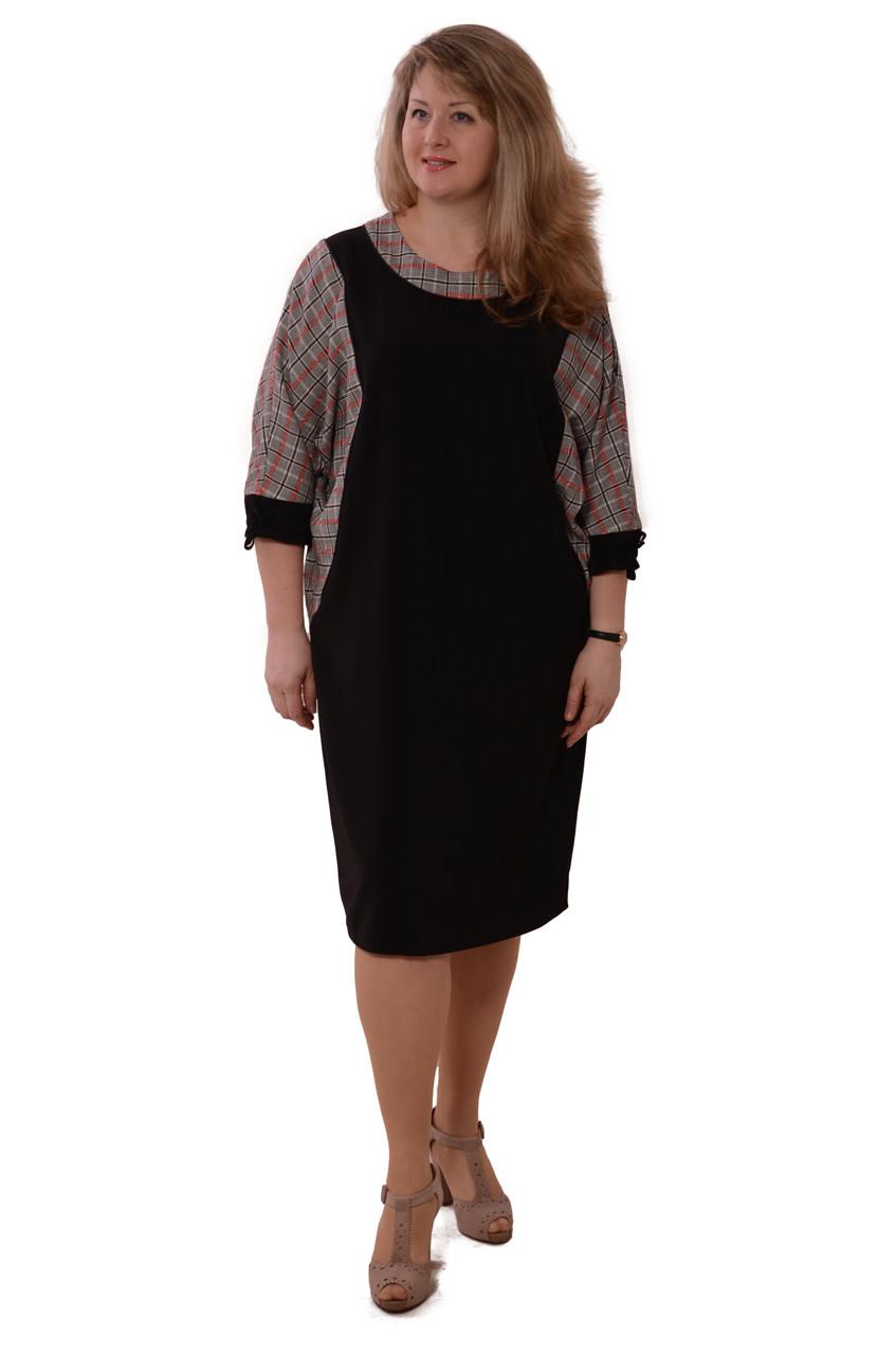 Платья +от производителя , на полную фигуру , стрейч , 48-56,Пл 042-2
