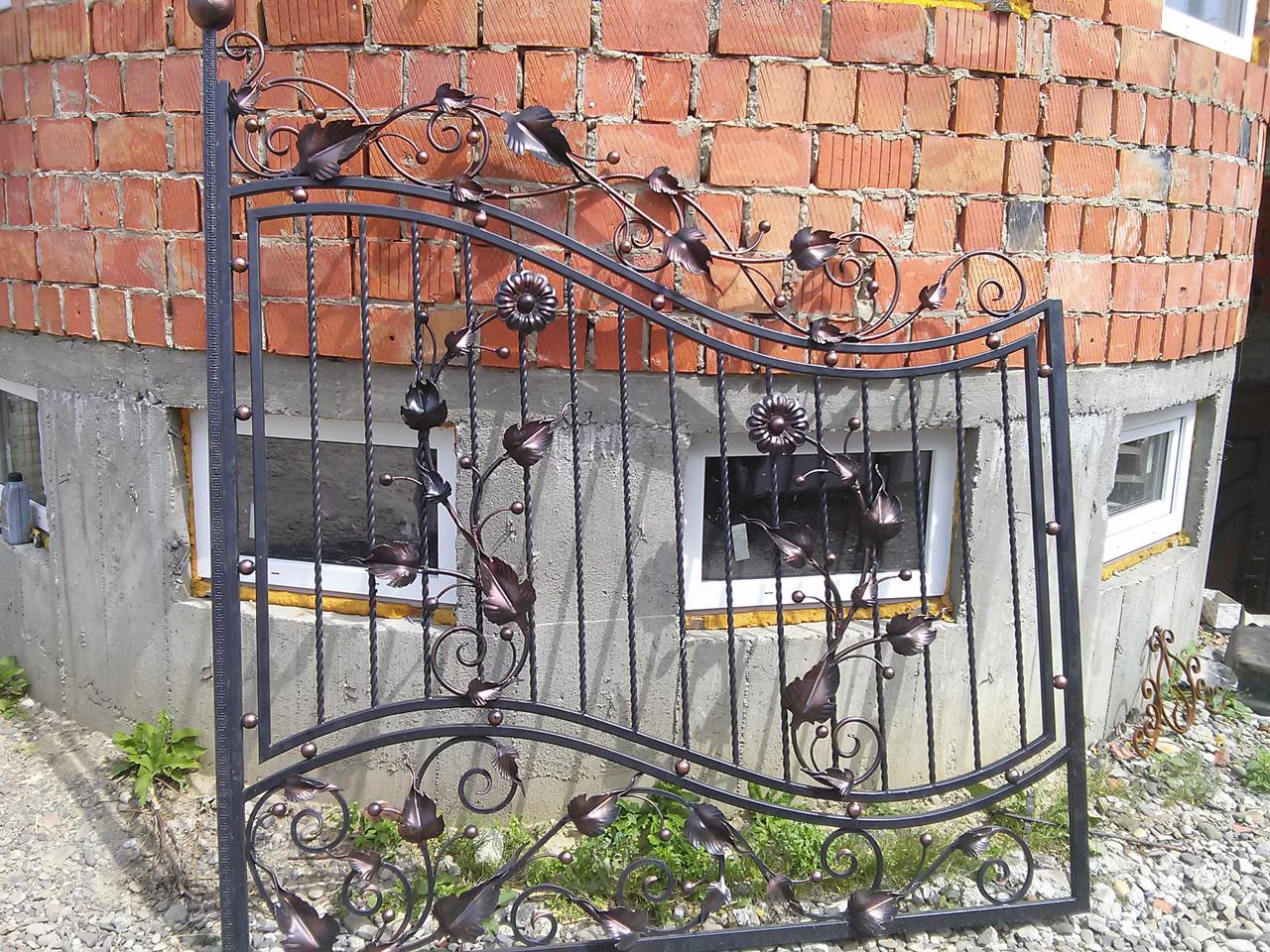 Ворота распашные автоматические с ковкой