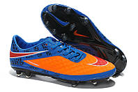 Футбольные бутсы Nike HyperVenom Phantom FG Blue/Orange 41, фото 1