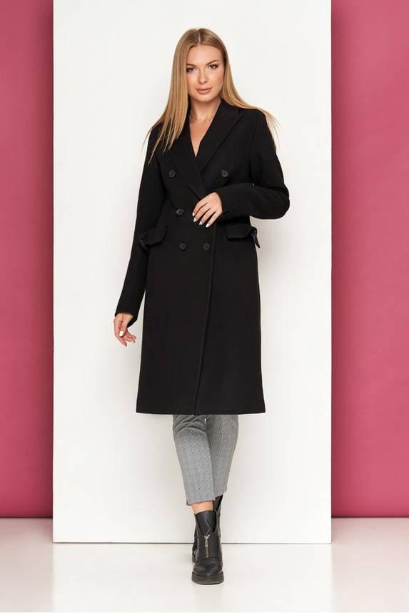 Черное кашемировое пальто осеннее классическое, фото 2