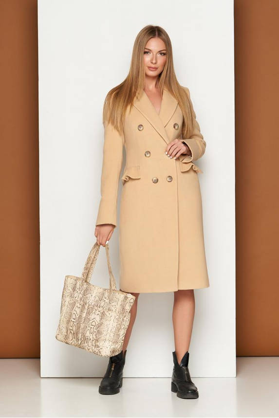 Женское кашемировое пальто классическое демисезонное, фото 2