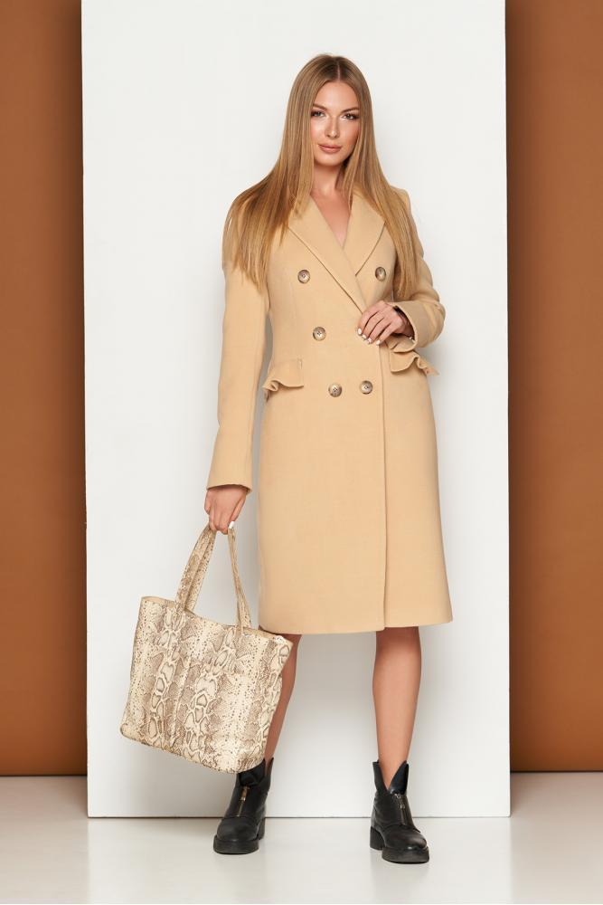 Женское кашемировое пальто классическое демисезонное