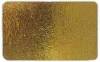 Подложка прямоугольная под торт 10*12 см золото/серебро