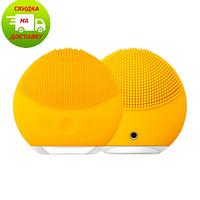 Массажер для очистки кожи лица | Щетка для умывания |  Масажер для очищення шкіри обличчя LUNA Mini 2, Желтый