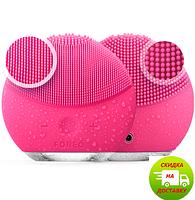 Массажер для очистки кожи лица | Щетка для умывания | Масажер для очищення шкіри обличчя  LUNA Mini 2, Розовый