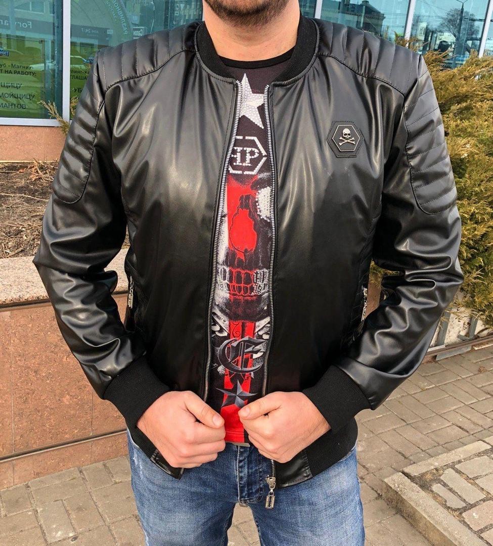 Кожаная куртка мужская  PP   Д