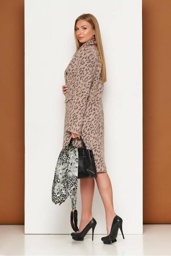 Женское классическое пальто с леопардовым принтом, фото 2