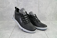 Ботинки мужские Lions T18  черные-серые (натуральная кожа, зима)