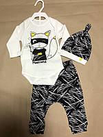 Детский комплект для девочки Одежда для девочек 0-2 Miniworld Турция 14472
