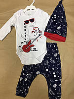Детский комплект для девочки Одежда для девочек 0-2 Miniworld Турция 14486 Белый