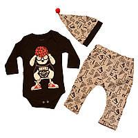Детский комплект для девочки Одежда для девочек 0-2 Miniworld Турция 14377 Черный