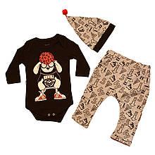 Дитячий комплект для дівчинки Одяг для дівчаток 0-2 Miniworld Туреччина 14377 Чорний