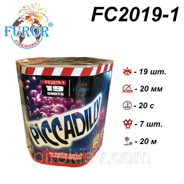 FC2019-1 Piccadilly салют калибр 20 мм, 19 выстрелов, Furor