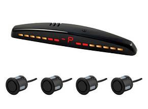 Четырёхдатчиковый парковочный радар LED серии SV-4T2 Чёрный