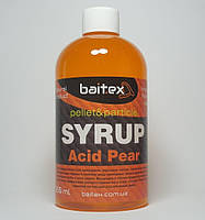 Сироп для прикормки baitex Syrup pellet&particle Acid Pear, 350 ml (КИСЛАЯ ГРУША)
