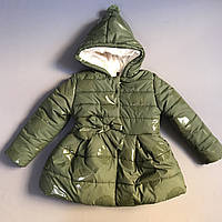 Куртка-пальто зимняя на девочку 2/3 года, 3/4 года, 4/5 лет, 5/6 лет