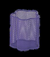Металлический стакан для ручек zibi zb.3101-07 фиолетовый