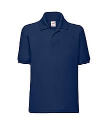 Детская футболка поло темно-синяя 417-32