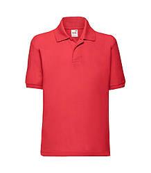 Детская футболка поло красная 417-40
