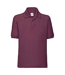 Детская футболка поло бордовая 417-41