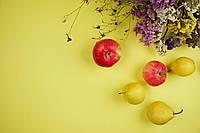 Желтый двусторонний, матовый фон для предметного фото 50х40. Инстафон, фото 1